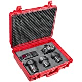 Mantona Outdoor foto-apparatuur beschermkoffer (maat L, waterdicht, schokbestendig, stofdicht) rood