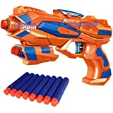 Sky Tech® Foam Blaster Gun Toys Safe and Long Range Galaxy Gun with 8 Pieces Soft Bullets for 3+ Kids