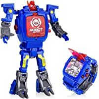 YuWei Smart Robot Toys Watch Kids 2 in 1 Electronic Transformers Giocattolo Watch Deformed Robot Toys Regalo per Bambini…