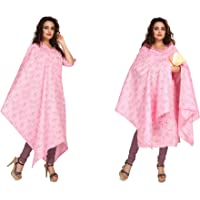 Hriday Fashion Women's Cotton Maternity/Feeding A-Line Kurti with Nursing Dupatta & Zippers for PRE and Post Pregnancy…