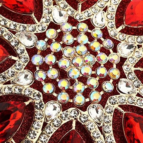 ibella  Evening Clutch, Damen Clutch rhinestone red #2