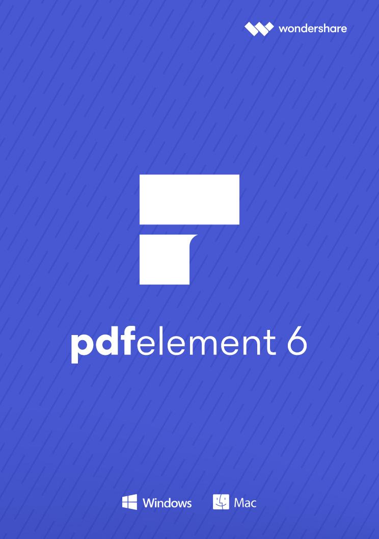 Wondershare PDF Element 6 Standard für PC - 2018 [Download] (Pdf Drucken)