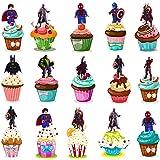 JPYZ 48 x Motifs des Super-héros Avengers Décorations,gâteaux Motif Super-héros Avengers,Décoration de Gâteau de Fête d'anniv