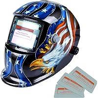 kesoto Masque de Soudure Cagoule Casque Soudage Solaire Automatique Accessoire de Protection Crâne - USA Eagle
