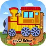Züge, Flugzeuge und Schiffe Puzzle für Kleinkinder - Version für Bildungseinrichtungen