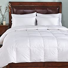 Kuber Industries Reversible Microfibre Double Comforter King Size, White (CLT575)