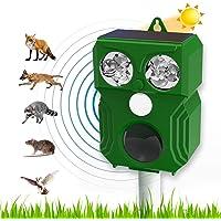 Repellente per Gatti,Ultrasuoni Piccioni,IP66 Impermeabile, ad Energia Solare e con Fequenza Regolabile per Allontanare…