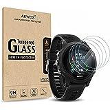 [Lot de 4] Films Protecteurs en verre trempé pour Garmin Forerunner 935, Akwox[0.3mm 2.5D HD 9H] Sans bulles Haute Transparen