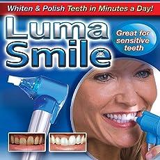 Buyerzone Tooth Polisher Whitener Stain Remover with LED Light Luma Smile