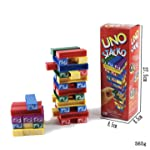 Uno Stacko Kids Toys Jenga Stacking Board Games Building Blocks for Kids - 51 Pieces 5 Colors
