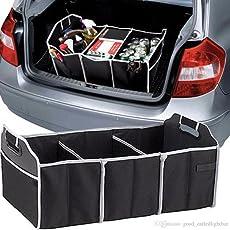 Harikrishnavilla Foldable Leak Proof Collapsible Car Organizer (Black)