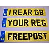 GB REAR NUMBER PLATE ROAD LEGAL (Rear GB)