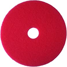3M 5100 Red Buffer Floor Pad, 20 inch (Packs of 5)