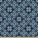 ABAKUHAUS Blau und weiß Stoff als Meterware, Nordischer
