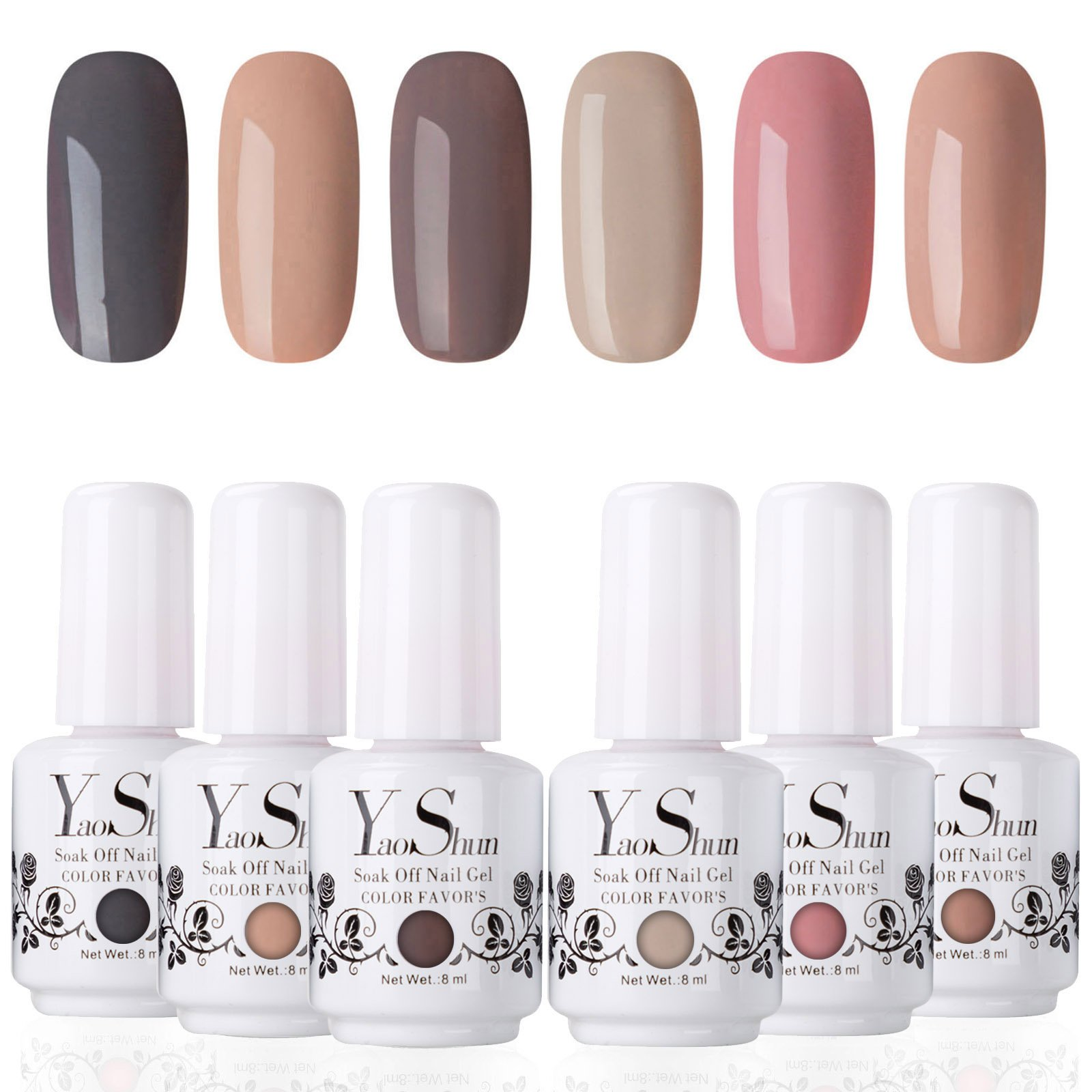 YS Soak Off Gel Nail Polish Sets 8ml UV LED Nail Gel Polish Varnish ...