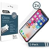 dipos I 2X Protection ecrán Compatible avec Apple iPhone X Verre Souple Film Protecteur 9H