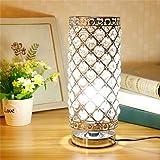 Lampada da Tavolo in Cristallo, Argento E27 base Lampada da Tavolo Decorativa, Lampada da Notte, Lampade da Tavolo per Camera