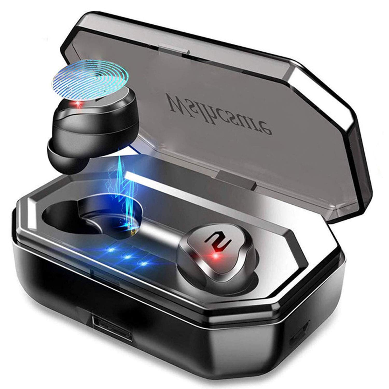 Auriculares Bluetooth, Auriculares Inalámbricos Bluetooth 5.0 con Mini Twins Estéreo In-Ear Deportivos Auriculares con Micrófono Incorporado IPX7 con Caja de Carga 3000mAh  para iPhone y Android