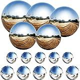LANUCN 15cm Gazing Ball 15cm x 1pcs Boule de miroir de jardin en m/étal Boule en acier inoxydable argent/ée pour la d/écoration