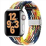 youmaofa Compatible con Correa Apple Watch 42mm 44mm, Ajustable Trenzada Estirable EláStico Deportiva Repuesto Correa con Heb