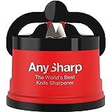 AnySharp Aiguiseur de Couteaux avec Ventouse, Rouge