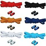 6 paar strikloze schoenveters veters met snelsluiting elastische veters met metalen sluiting No Tie Shoelaces rubberen schoen