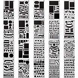 20 Pcs Pochoir Peinture, Peinture Set Réutilisable Plastique DIY Modèle de Dessin pour Bullet Journal/ Portable / Agenda / Sc