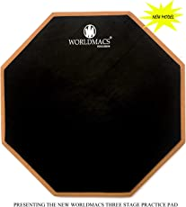 WORLDMACS 12 INCHES 2 SIDED DRUM PRACTICE PAD
