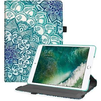 """Fintie Hülle für 9.7"""" iPad 2018 (6. Generation), iPad 2017 (5.Generation), iPad Air 2 / iPad Air - Intelligent Schutzhülle für unterschiedliche Betrachtungswinkel, Auto Sleep/Wake, smaragdblau"""