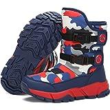 Botas de Nieve Niño Niña Botas de Invierno Antideslizante Cálido Forro Niños Al Aire Libre Boots 24-40
