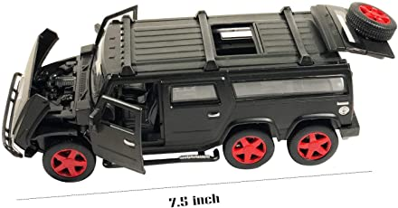AdiChai Die Cast Metal Car Pull Back 5 Openable Doors 6 Wheels Drive Light Music,A Perfect Gift for 6 Year Old Kids