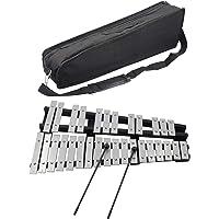 Xilofono pieghevole 30 toni,glockenspiel strumento musicale musicale con cornice in legno per bambini e bambini,include…