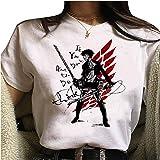 Camiseta Attack On Titan, Camiseta Anime 3D Shingeki No Kyojin Scout Regiment Levi·Ackerman Anime Cosplay T-Shirt Casuale Man