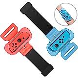 MENEEA Bracelets pour Nintendo Switch Just Dance 2021 2020 2019 Zumba Burn It Up, bandes de danse élastiques réglables 2PCS p