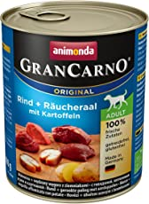 Animonda Gran Carno Hundefutter Adult Rind + Räucheraal mit Kartoffeln, 6er Pack