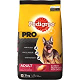Pedigree PRO Expert Nutrition Active Adult Large Breed Dog (18 Months Onwards) Dry Dog Food, 3kg Pack