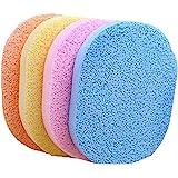 Éponges nettoyantes pour le visage - En cellulose - Pour le démaquillage - 6 pièces