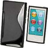 iGadgitz Dual Tone Black Durable Crystal Gel Skin (TPU) Case Cover for Apple iPod Nano 7th Generation 7G 16GB + Screen…