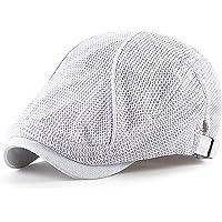 Ueither Cappello Unisex Estivo a Rete, Traspirante, Regolabile, Berretto Piatto, Gatsby Ivy Hat Irlandese Flat cap…