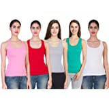 Vansh fashion Women's Cotton Tank Top/Camisole (Pack of Combo)