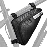 WOTOW Cycling Frame Pannier Cell Phone Bag, Bike Front Top Tube Touchscreen Saddle Bag Rack Mountain Road Bicycle Pack Double Pouch Mount Phone Bags for Smartphone