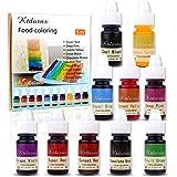 Colorant alimentaire liquide-10 Couleurs de Colorant Alimentaire Liquide Concentré pour Gâteau, Cuisson, Décoration, Glaçage