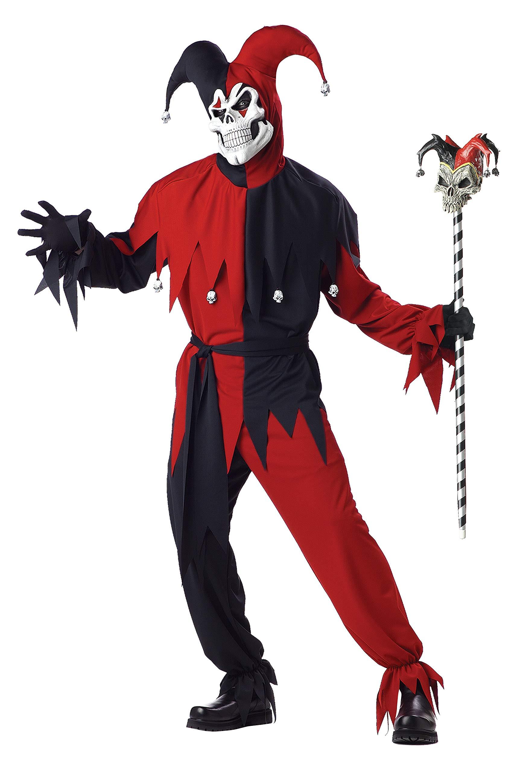 California Costumes Horror Hofnarr Kostüm Rot und Weiß Herren Gr.- M 102-107cm …