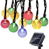 Guirnalda Luces Exterior Solares, BrizLabs 6.5M 30 LED Cadena de Luces Impermeable 8 Modos De Iluminación para Interiores y E