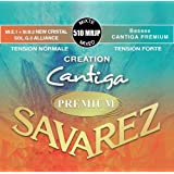 Savarez 510Mrjp Cuerdas para Guitarra Clásica Creation Cantiga Premium Juego Tensión Mezcla Normal/Alta