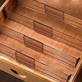 Baffect Lot de 4 séparateurs de tiroirs, séparateurs d'organisateurs de tiroirs Extensibles 51-27,5 cm, organisateurs Multi-t