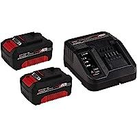 Einhell 18V 2x 3,0Ah & 30min PXC Starter Kit (2xAkku + Ladegerät, 18V, Max. Power 900 W, universell für alle PXC-Geräte, prozessgesteuertes Batteriemanagementsystem ABS, 3-stufige LED-Anzeige)