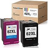 SWISS TONER Compatible pour HP 62XL 62 XL Recyclé Cartouches d'encre pour HP Envy 7640 7645 8000 8005 5640 5642 5643 5644 564