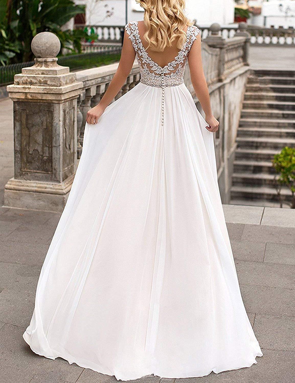 YASIOU Elegant Hochzeitskleid Damen Lang Hochzeitskleider ...