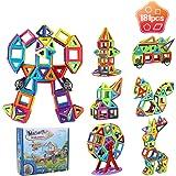 Innoo Tech Bloc de Construction Magnétique Enfant 181 Pièces,Jeux de Construction Aimantés avec Livre D'orientation,Jouet Edu
